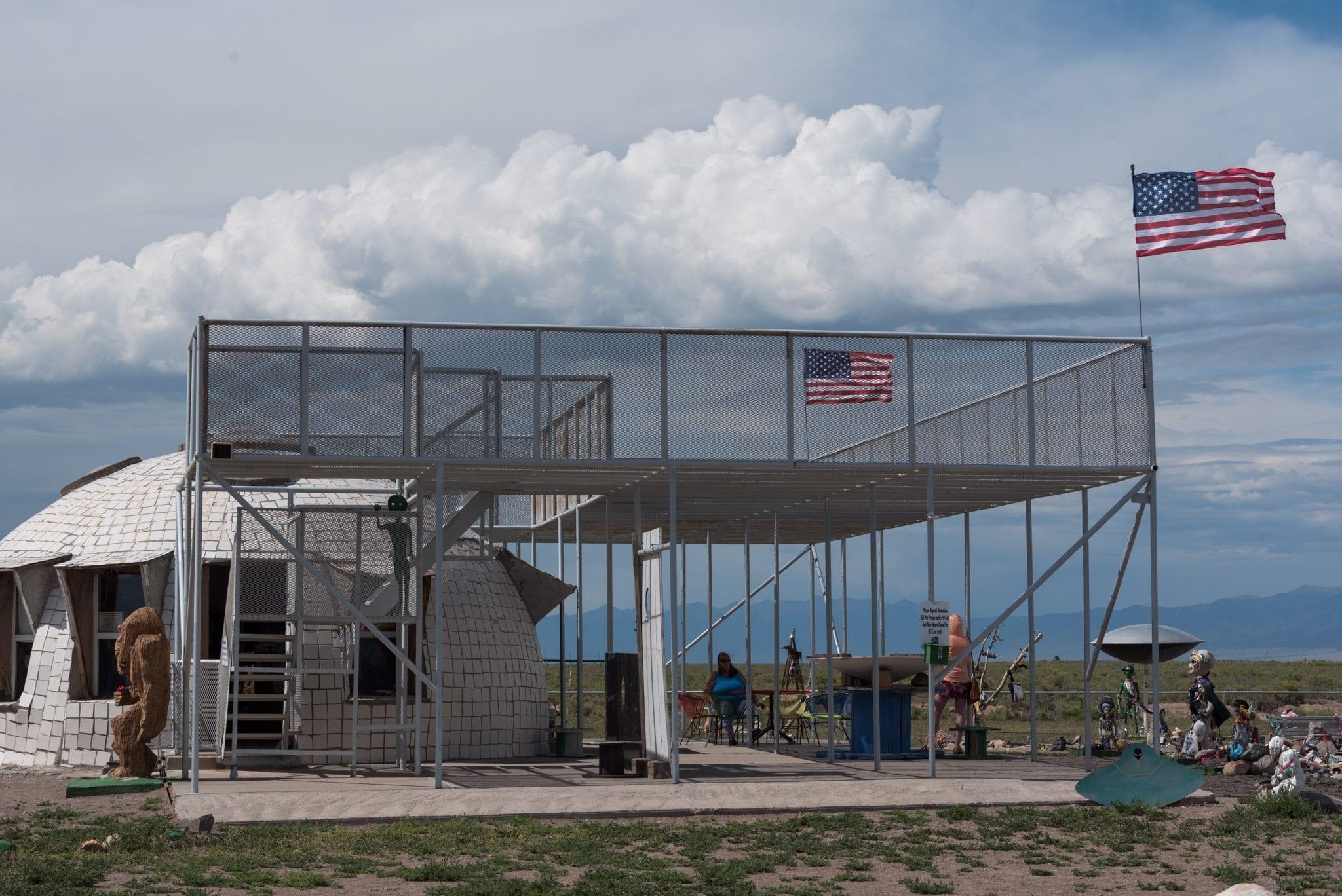 image of UFO watchtower