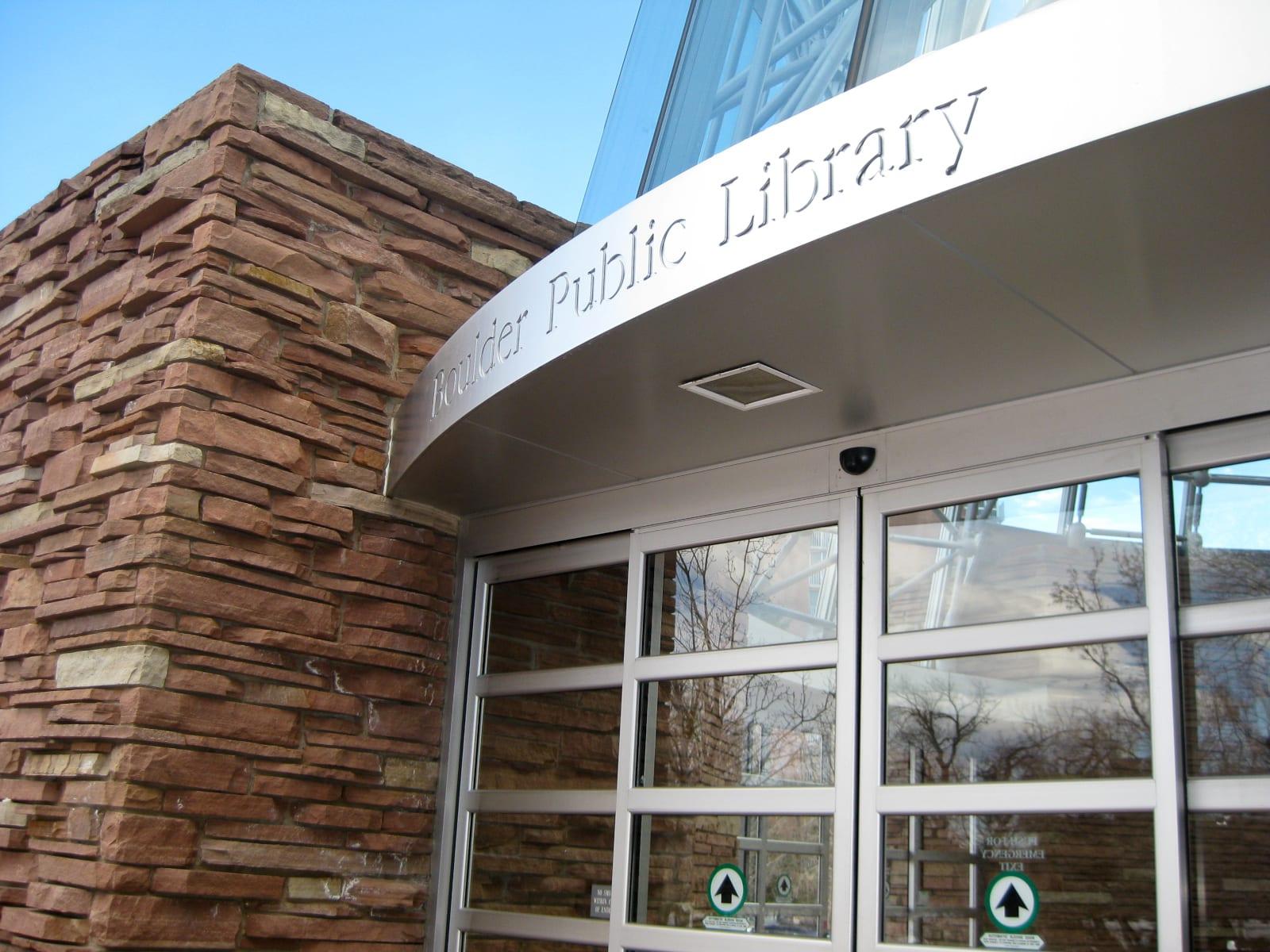 Boulder Public Library Main Branch Entrance