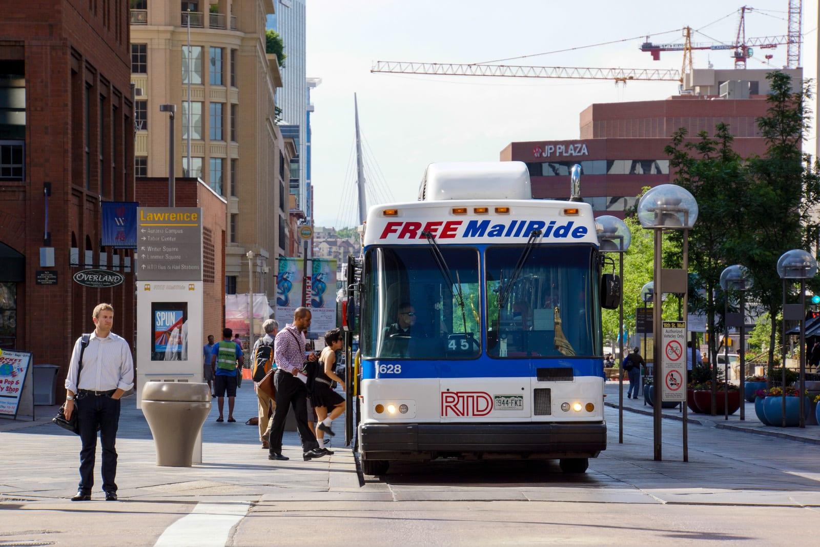16th Street Mall Free RTD Bus Ride