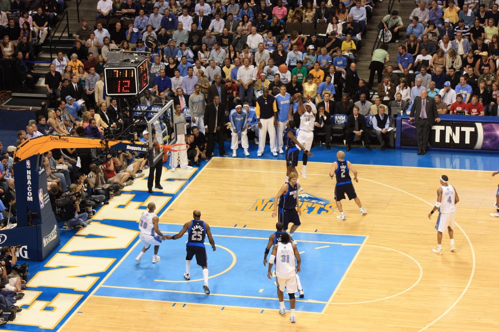 Professional Teams Denver Nuggets Basketball Game Pepsi Center