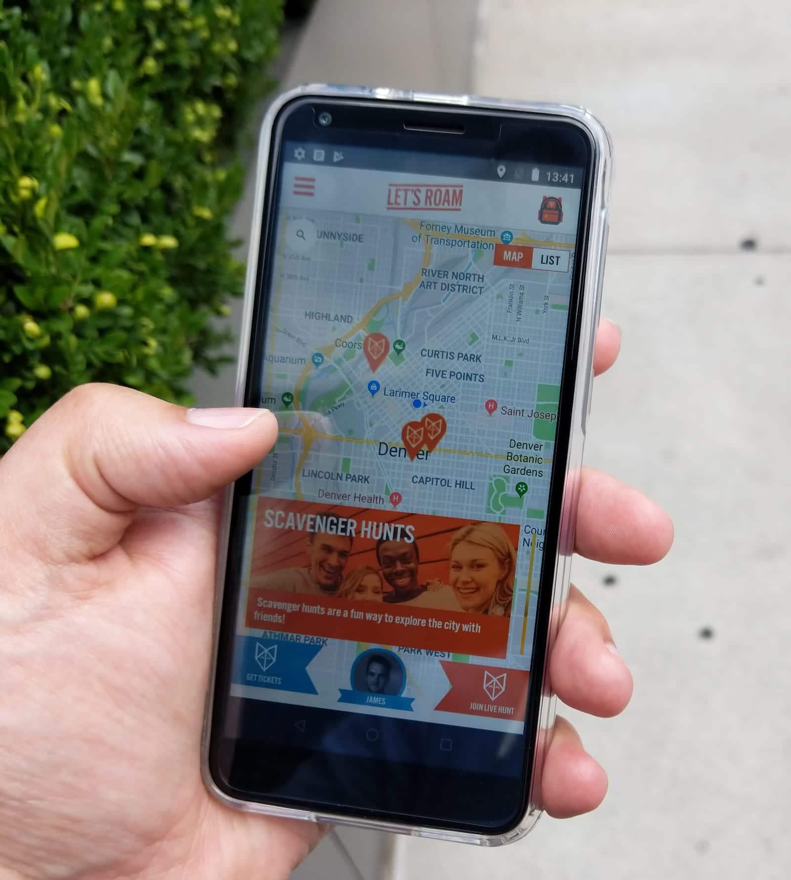 Let's Roam Scavenger Hunts Denver App