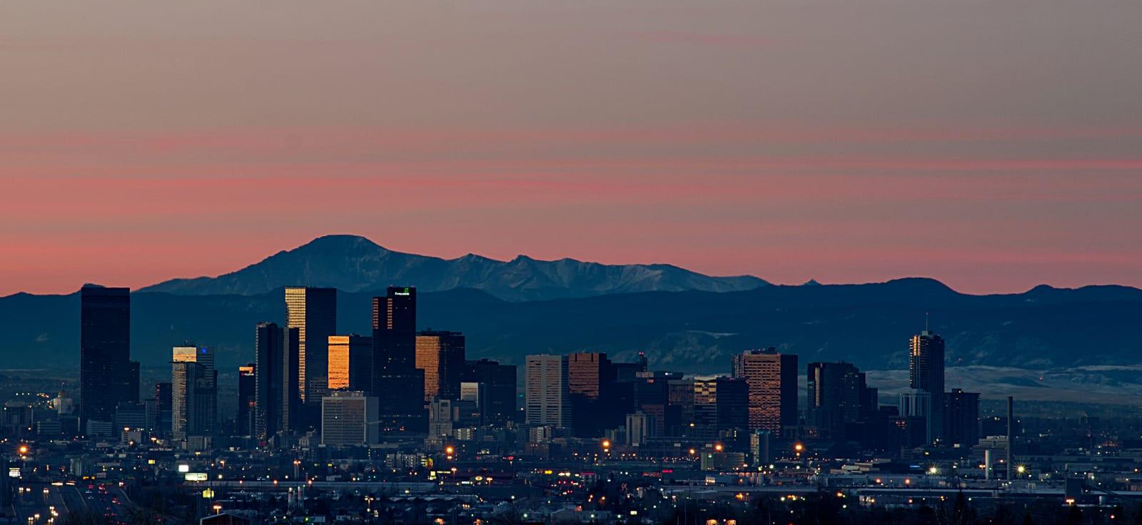 Freelance Colorado 5:52AM Denver Sunrise