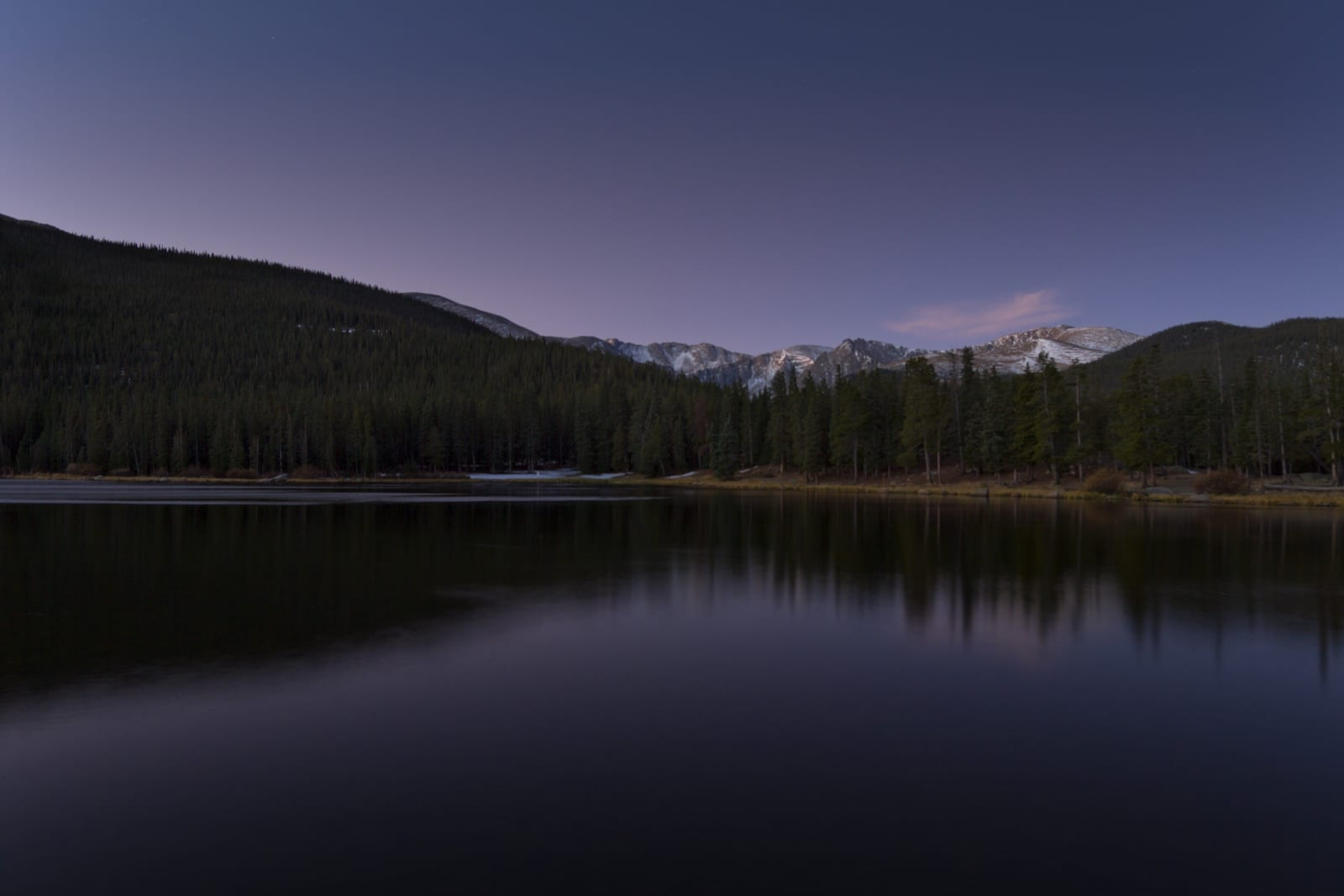 Echo Lake Colorado at Dawn