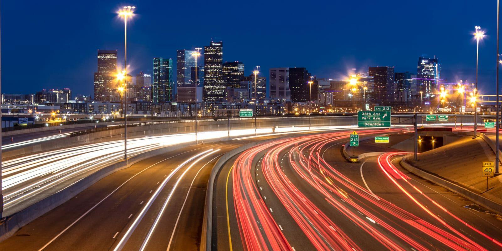 Freelance Colorado Denver Highway Night