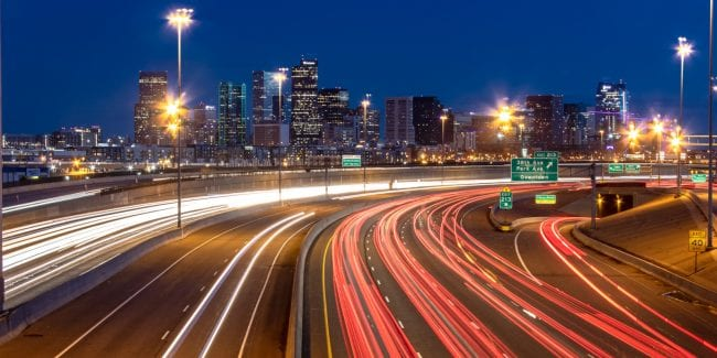 Freelance Colorado Denver Highway Night