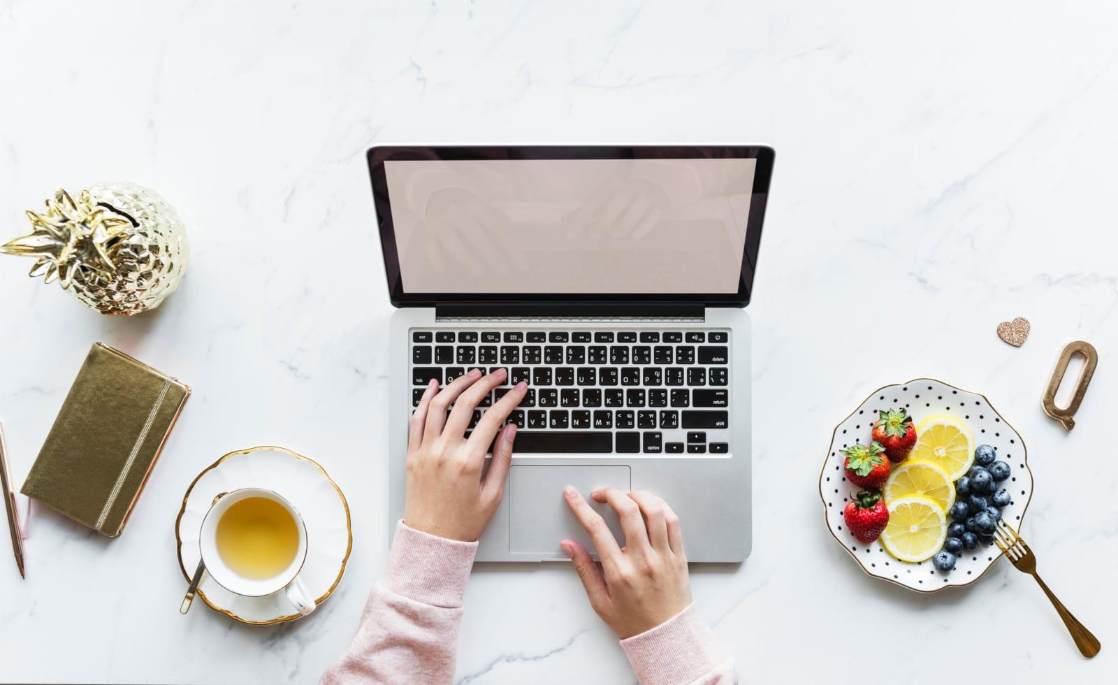 How To Get Started Freelancing Laptop Tea Fruit