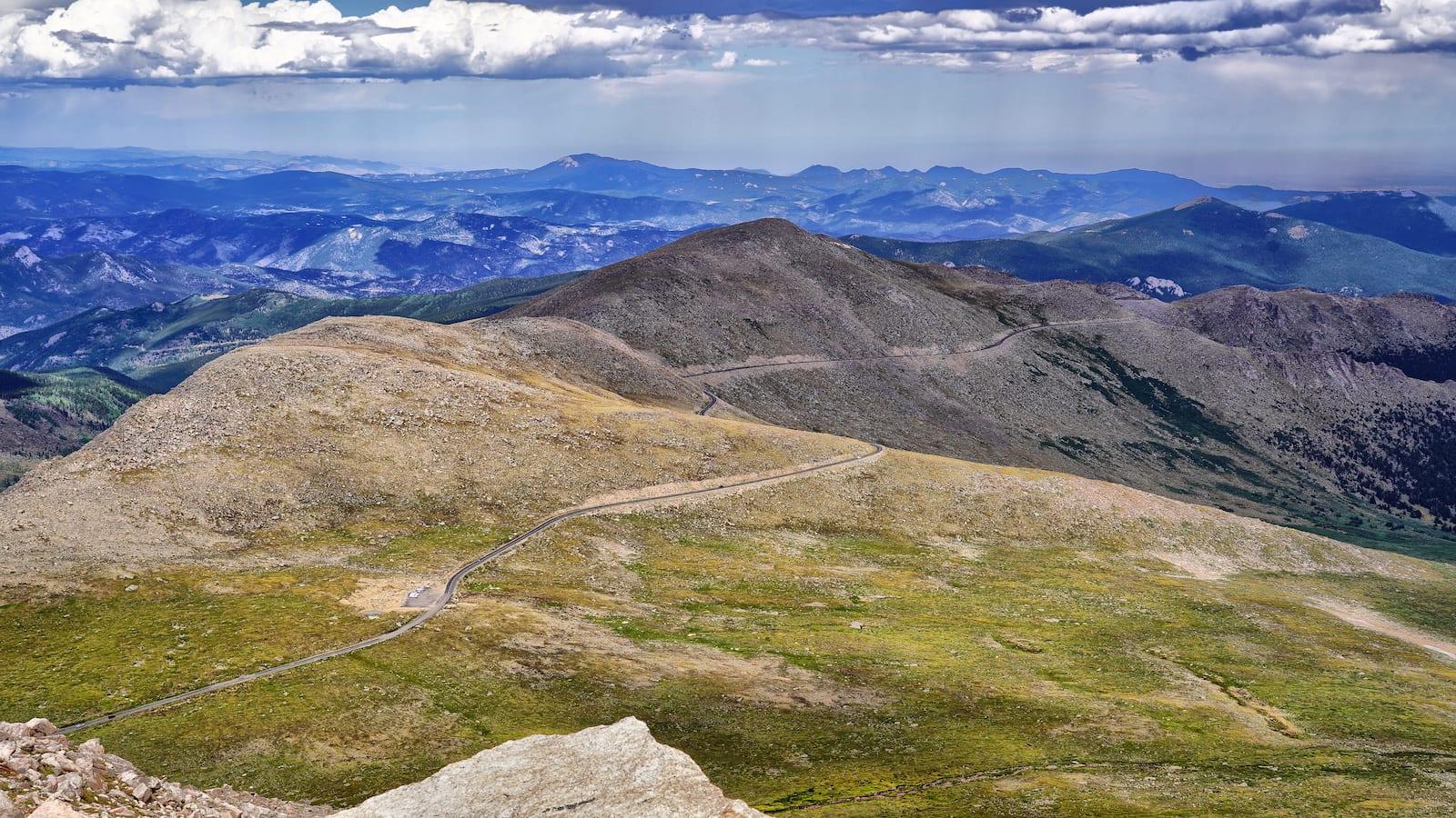 Overlooking Mount Evans Road near Evergreen Colorado