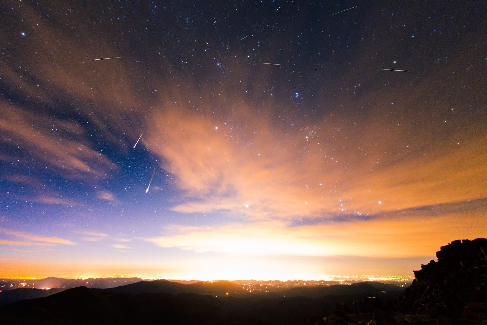Mount Evans Meteor Shower Perseids from Mount Evans Colorado