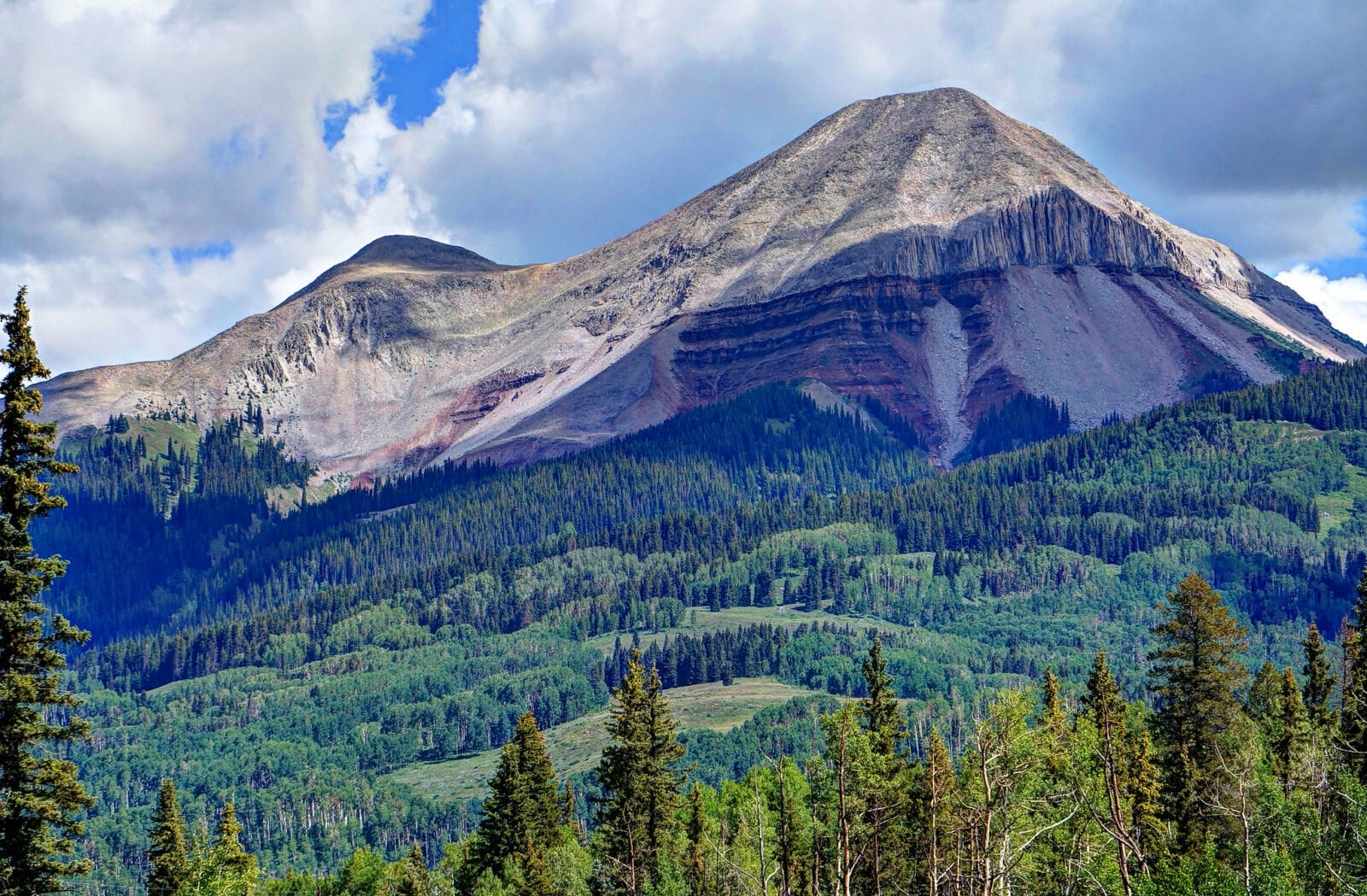 image of mountain peaks along Coal Bank Pass