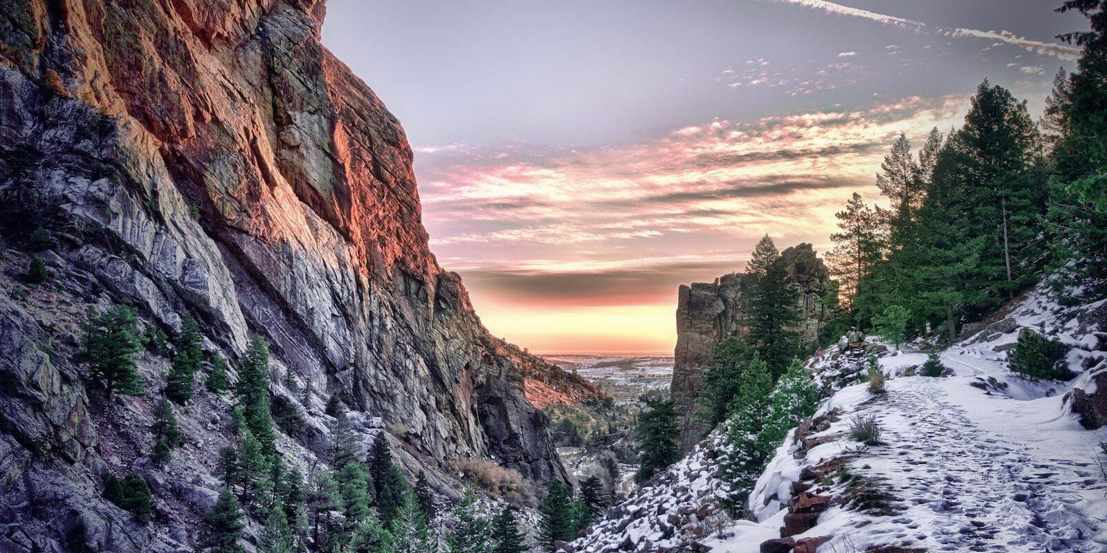 Eldorado Canyon Sunrise Colorado State Park