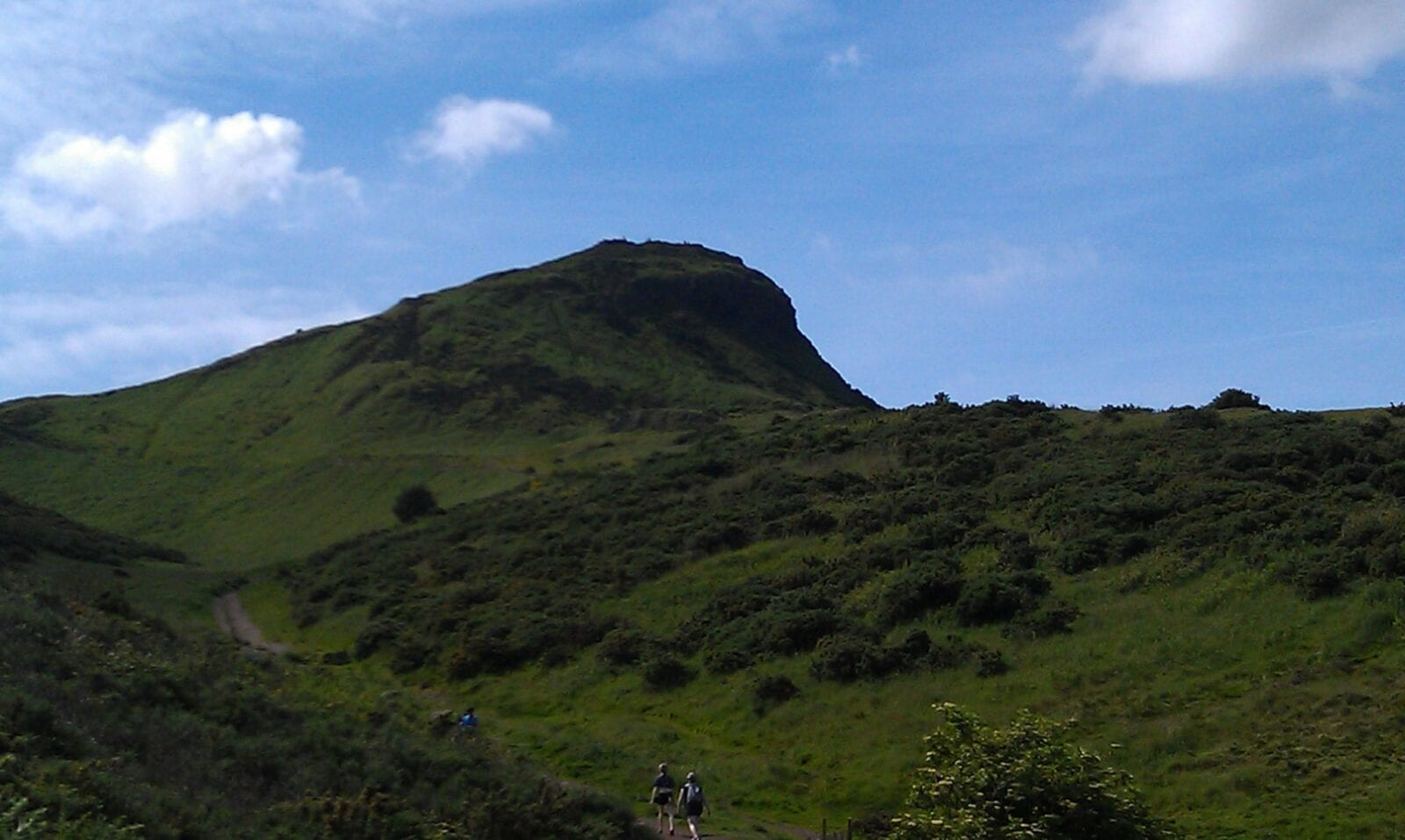 Heading up the trail on Arthur's Seat