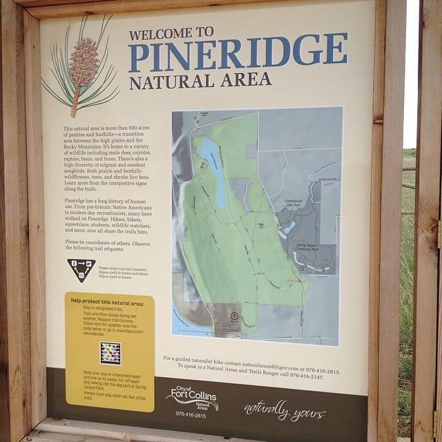 Map of Pineridge Natural Area