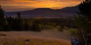 Pikes Peak Sunrise from Grouse Mountain Overlook, Mueller State Park