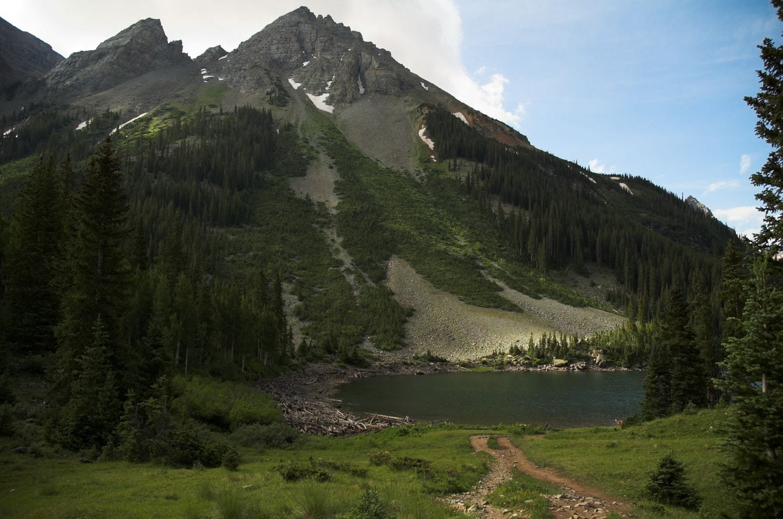 Pyramid Peak and Crater Lake