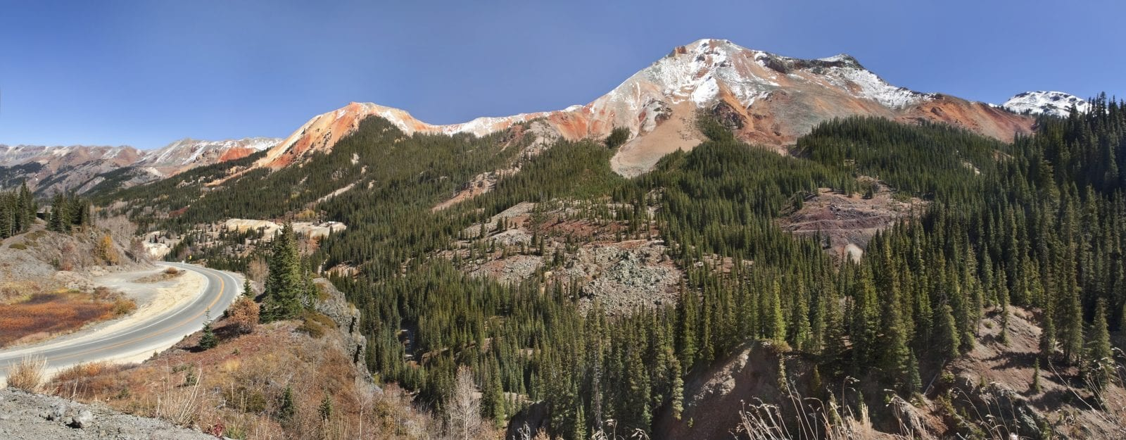 image of red mountain pass