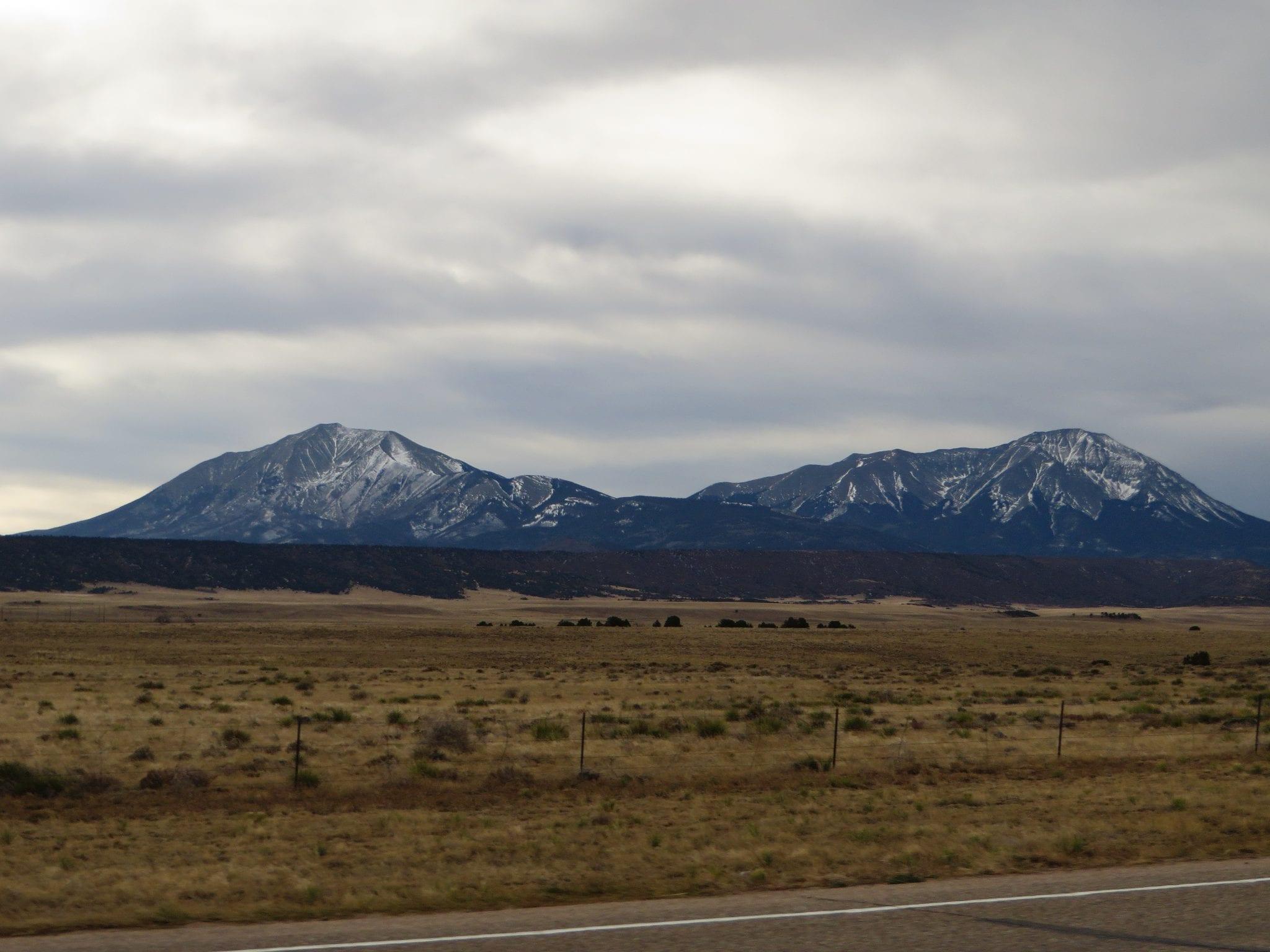 Spanish Peaks, U.S. Route 160 West of Walsenburg, Colorado