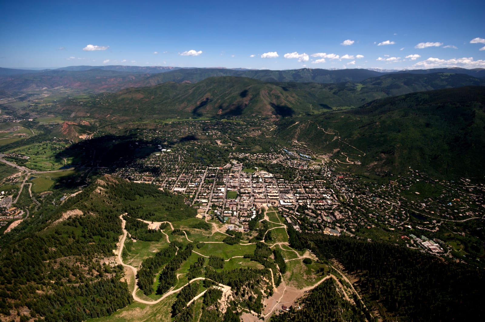 Best Mountain Towns Aspen Colorado Aerial View