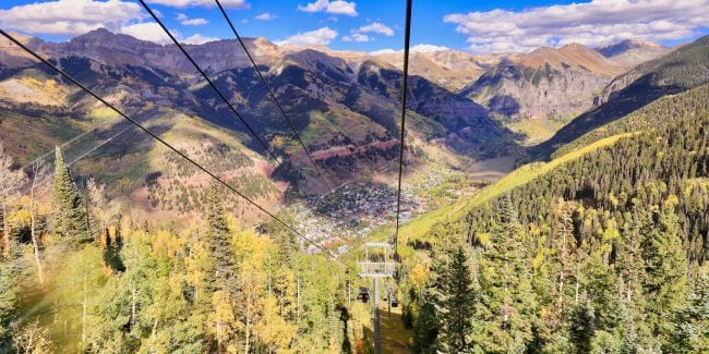 Best Mountain Towns Telluride Colorado Aerial View from Gondola