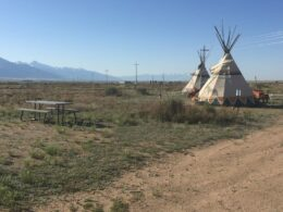 Camping Colorado Hot Springs Joyful Journey Tent Site Teepees