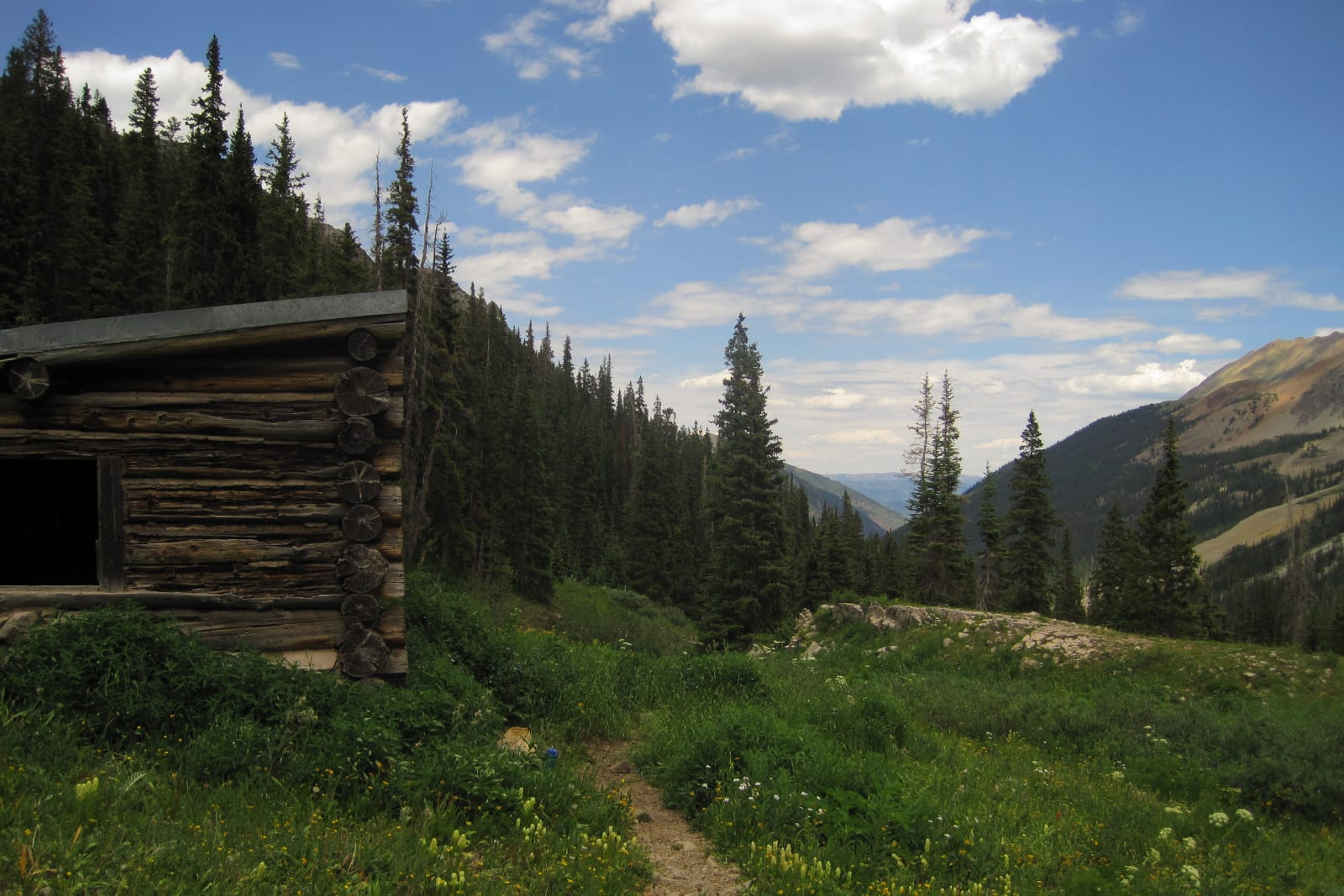 Camping Colorado Hot Springs Conundrum Hiking Trail by Cabin