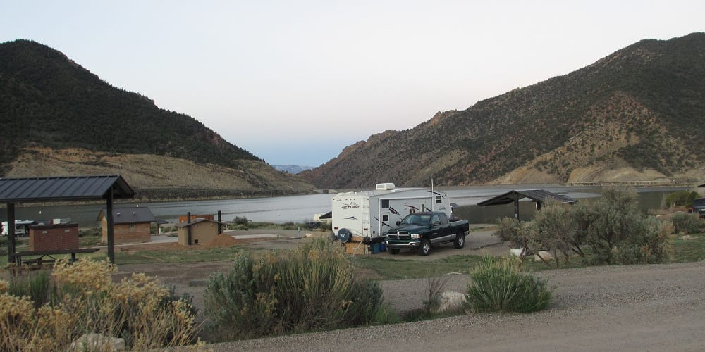 Camping near Rifle CO Rifle Gap Reservoir Campground