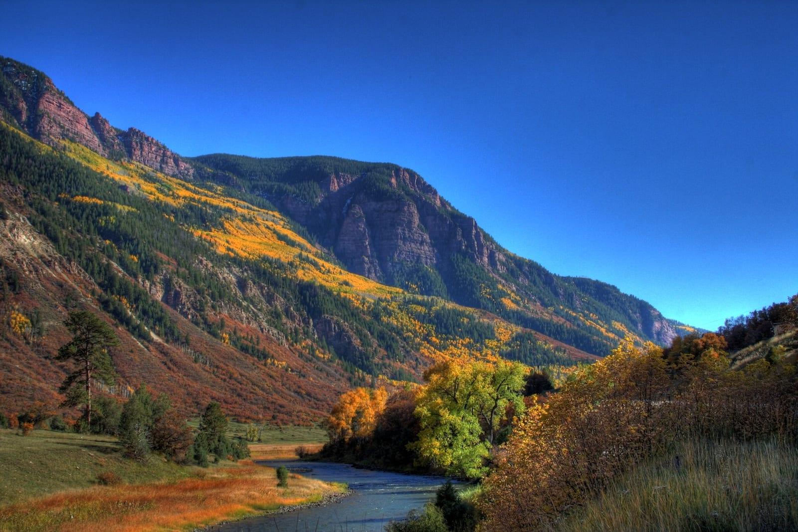 Carbondale CO Highway 133 Autumn Colors
