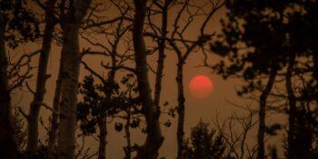 Colorado Wildfires Smoke on Poncha Pass