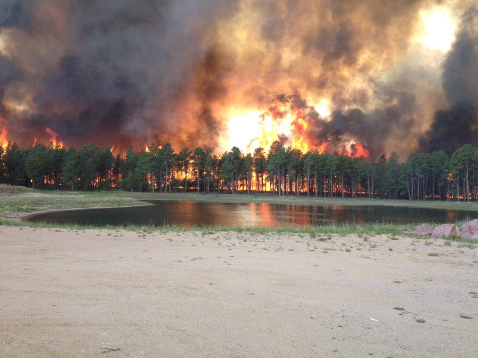 Colorado Wildfires Black Forest Community Flames Colorado Springs