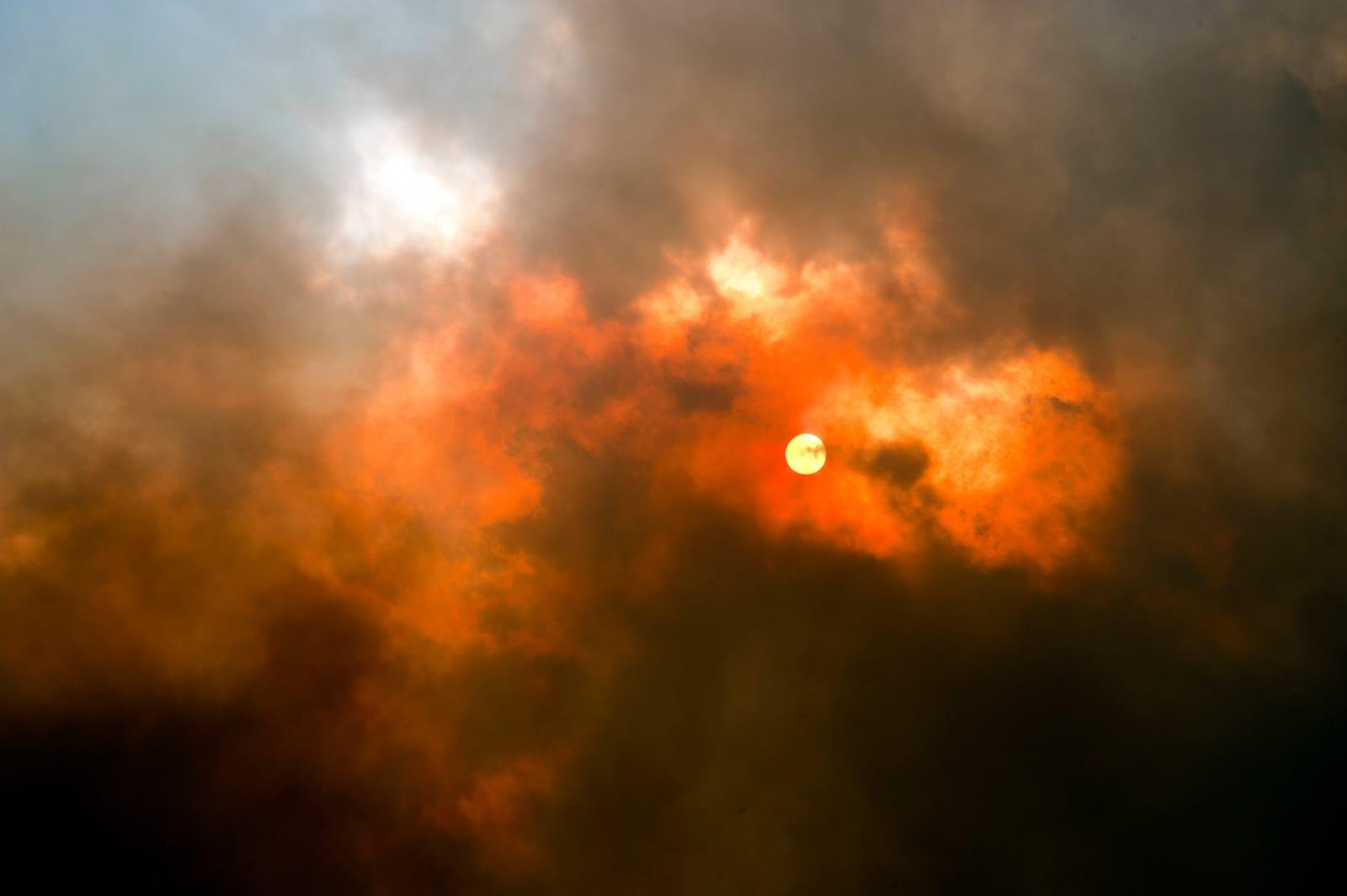Colorado Wildfires High Park Fire Cloudy Smokey Sky Sun