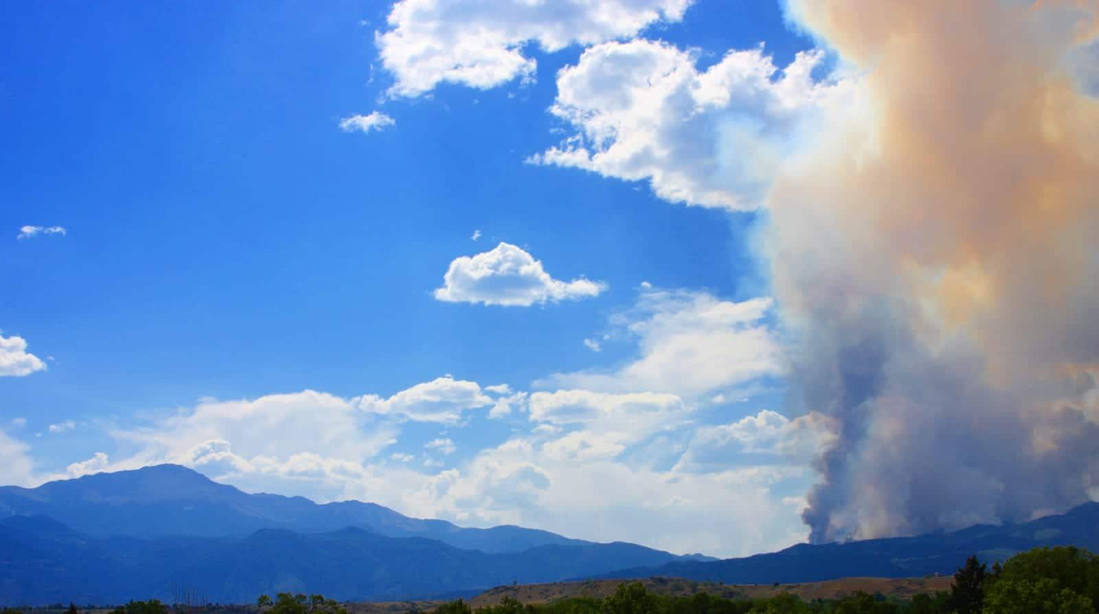 Waldo Canyon Fire Pyramid Mountain Smoke Colorado Springs