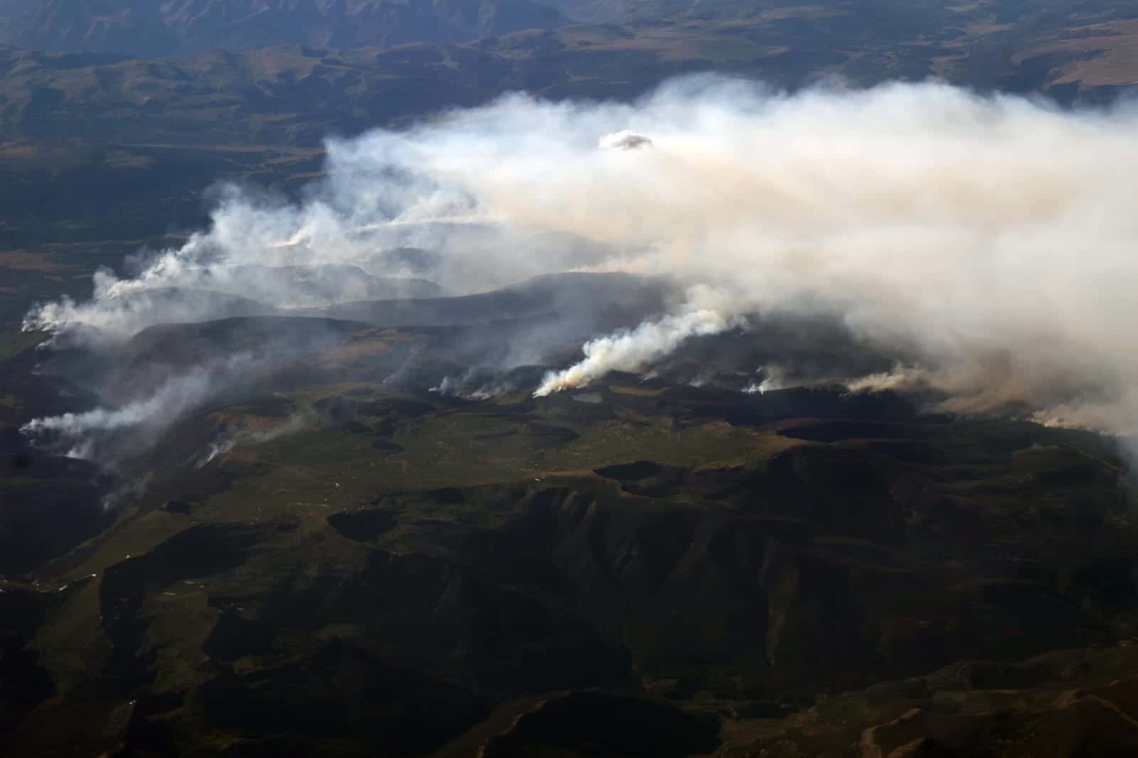 Colorado Wildfires West Fork Fire Rio Grande National Forest South Fork Aerial View