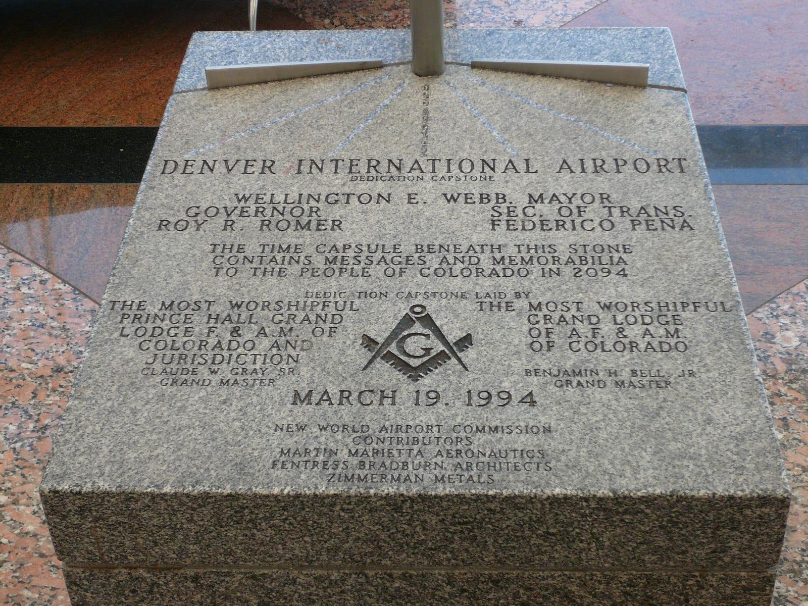 DIA Conspiracy Theories Denver International Airport Dedication Capstone