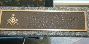 D.I.A. Dedication Capstone Braille