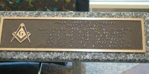 D.I.A. Dedication Capstone Braille