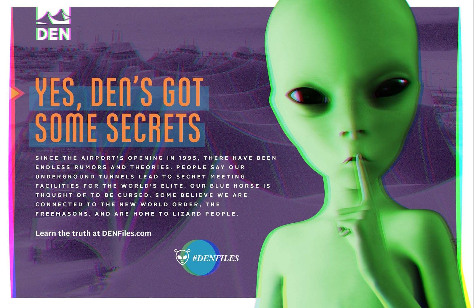 DIA Conspiracy Theories Alien Denver Airport Art