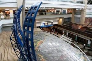DIA Conspiracy Theories Artwork World Map Dual Meridian Underground Train