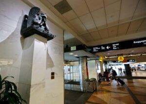 DIA Conspiracy Theories Artwork Gargoyle Statue Notre Denver