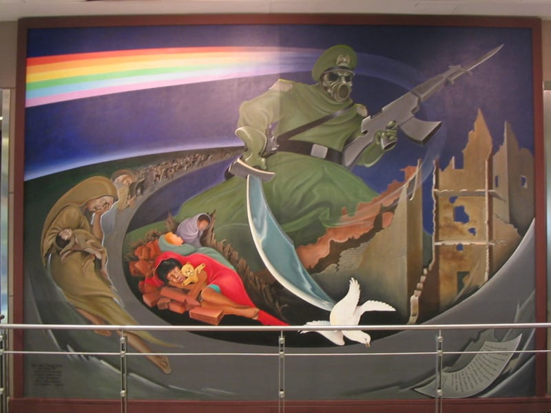 Denver Airport Mural Children of the World Dream of Peace