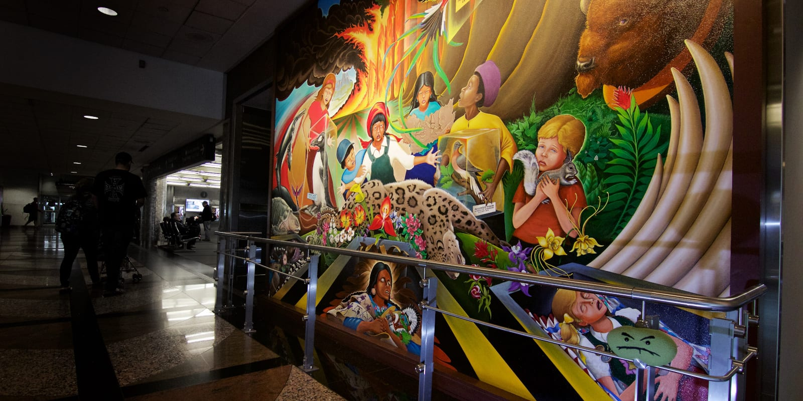 Denver Airport Murals In Peace and Harmony with Nature