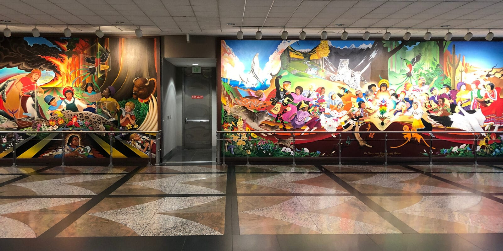 Denver International Airport Mural In Peace and Harmony with Nature