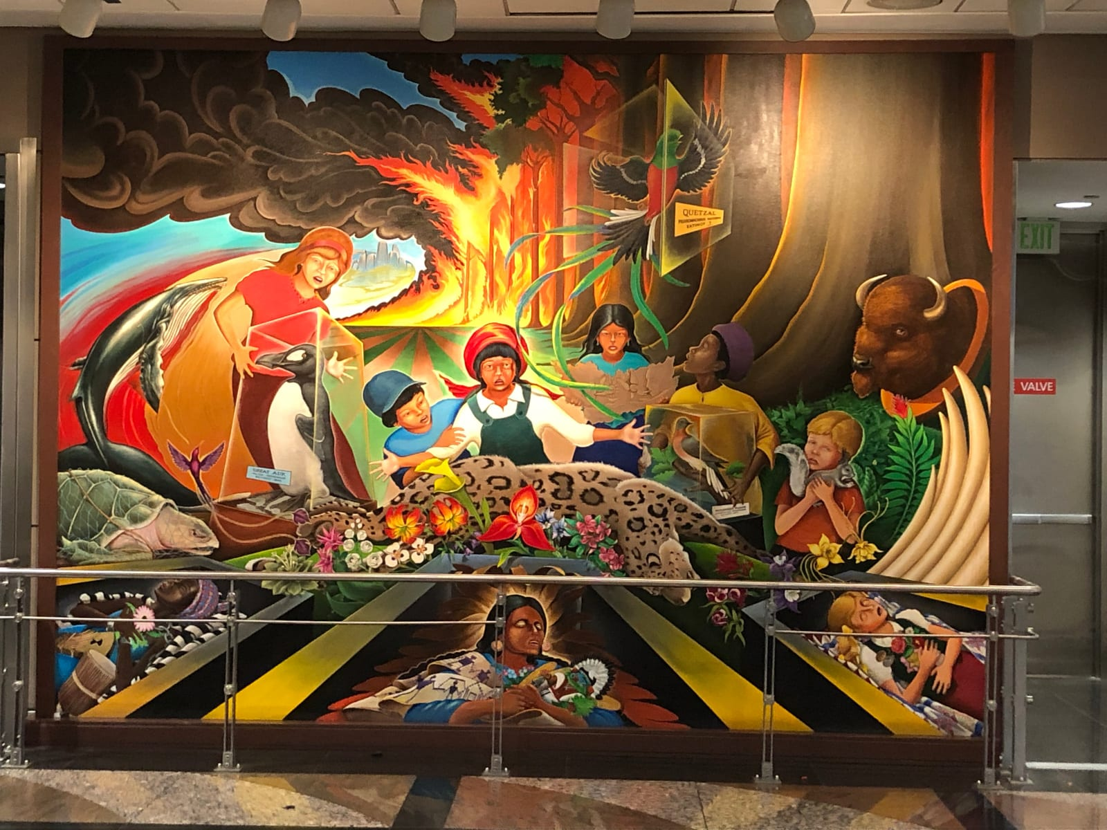 Denver Airport Mural In Peace and Harmony with Nature First