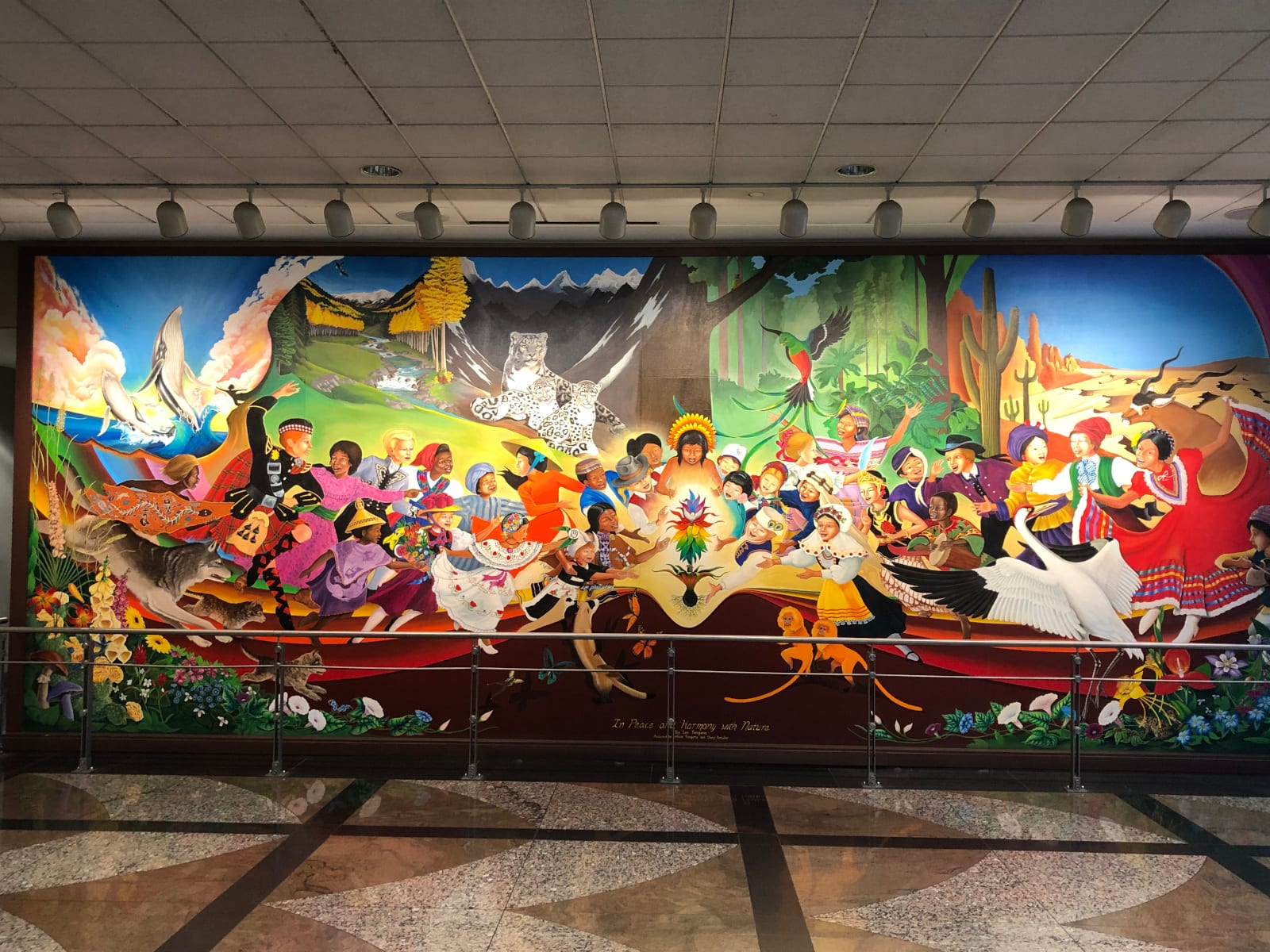 Denver Airport Mural In Peace and Harmony with Nature Second