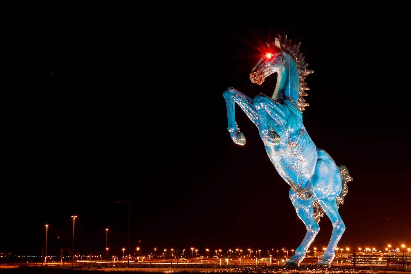 Blue Mustang Statue Denver International Airport Blucifer