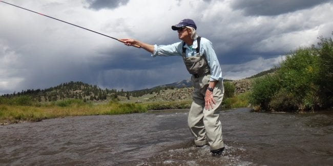 Fly Fishing for Trout in River Park County Colorado