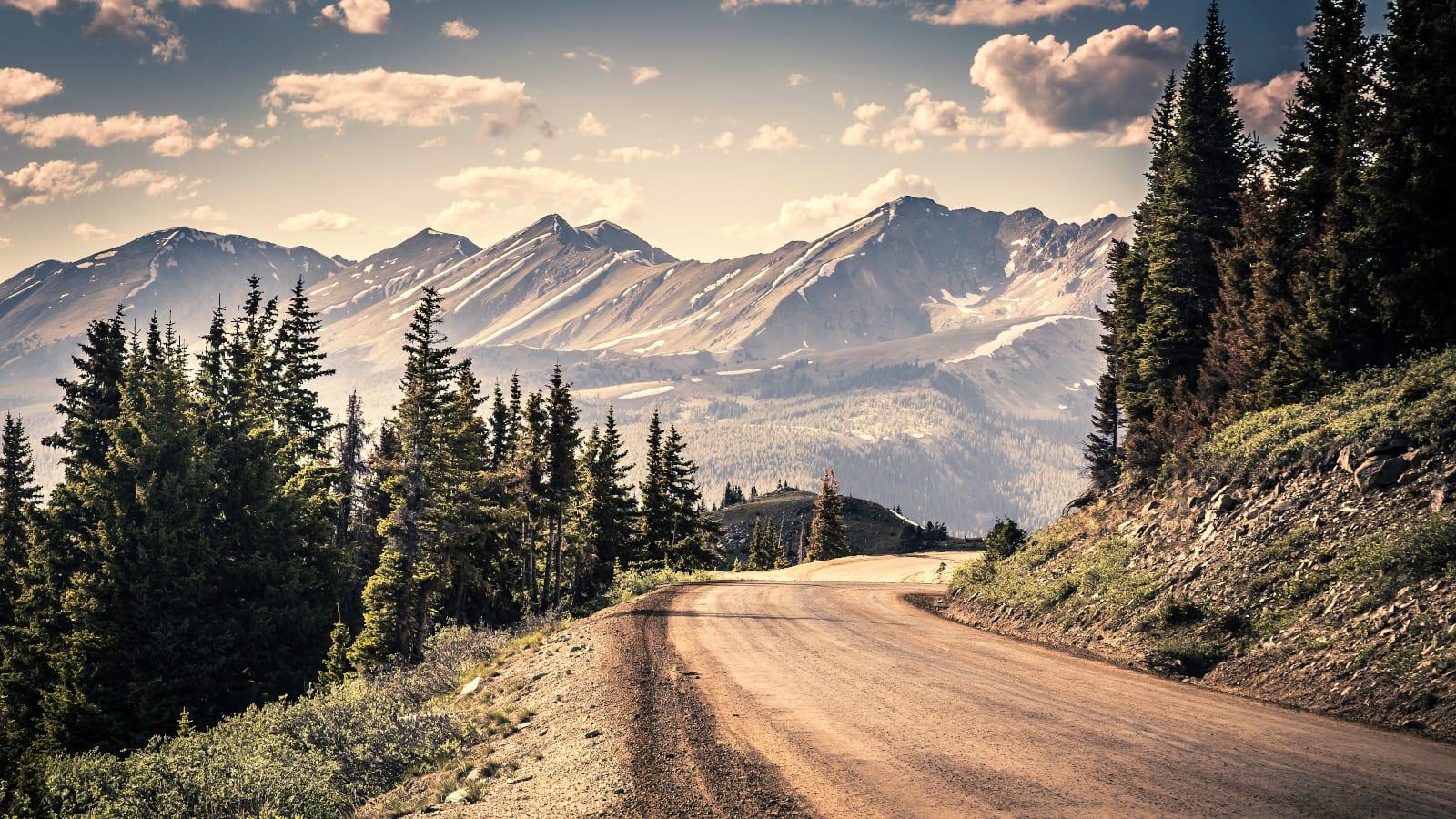 Cottonwood Pass Gunnison Side View Gravel Road Highest Roads Colorado