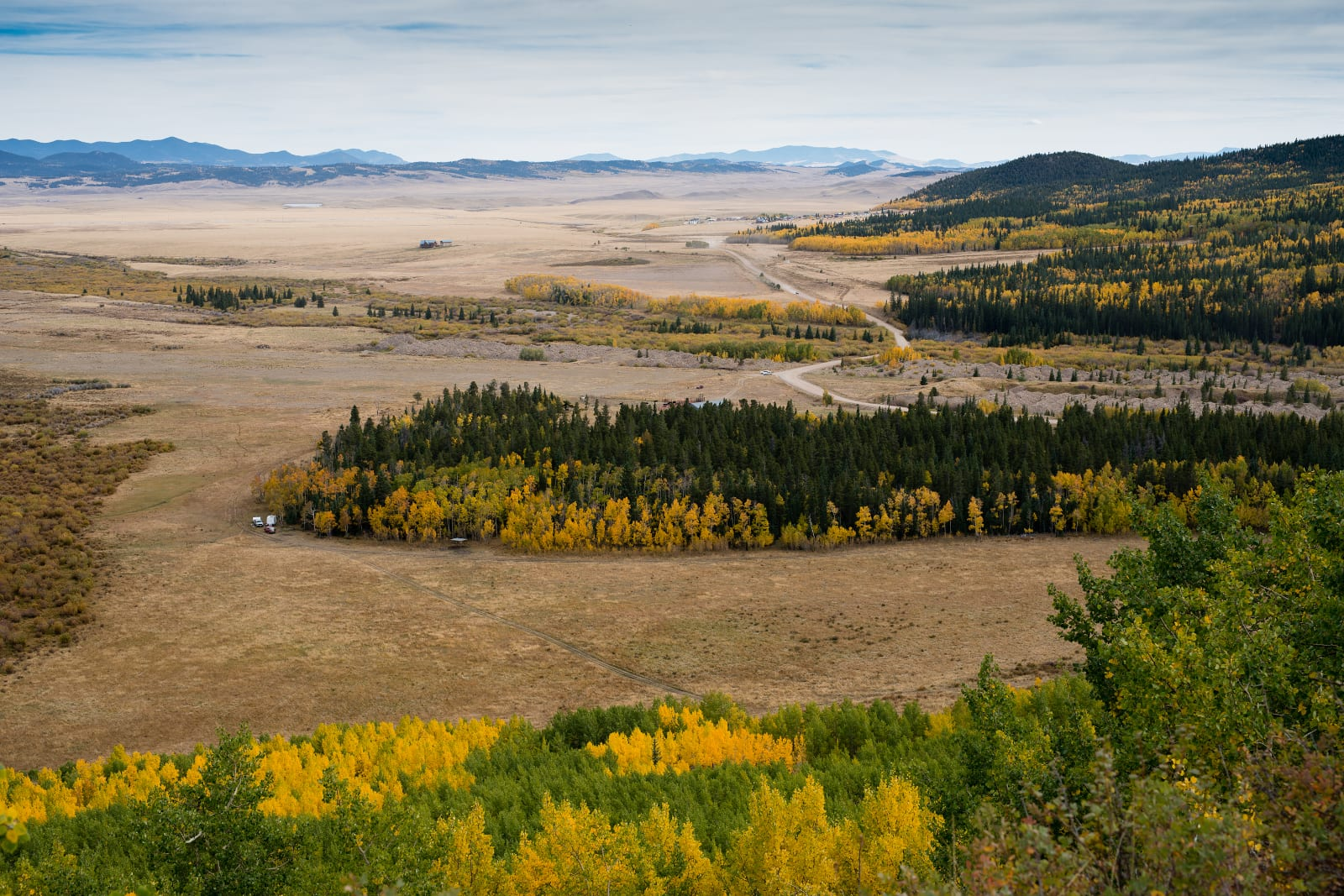 Highest Roads Colorado Boreas Pass Park County Side Overlook Autumn Drive