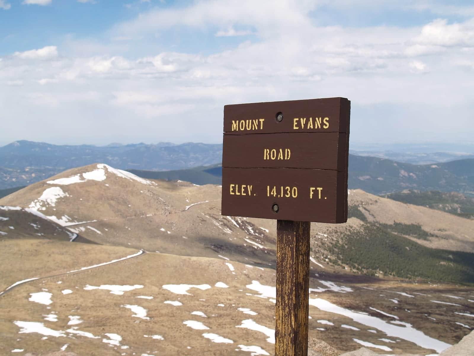 Mount Evans Road Highest Colorado Paved Drive