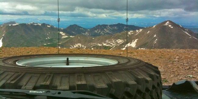 Land Rover on Mount Bross, Colorado