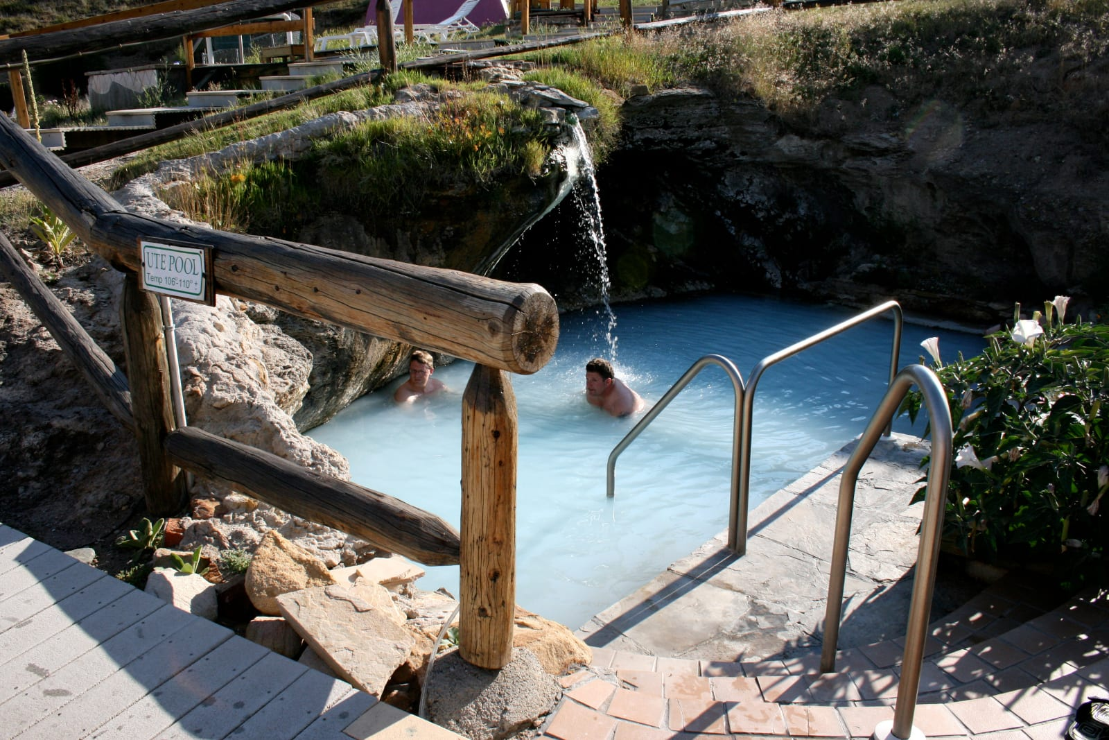 Hot Sulphur Springs Waterfall Pool Colorado