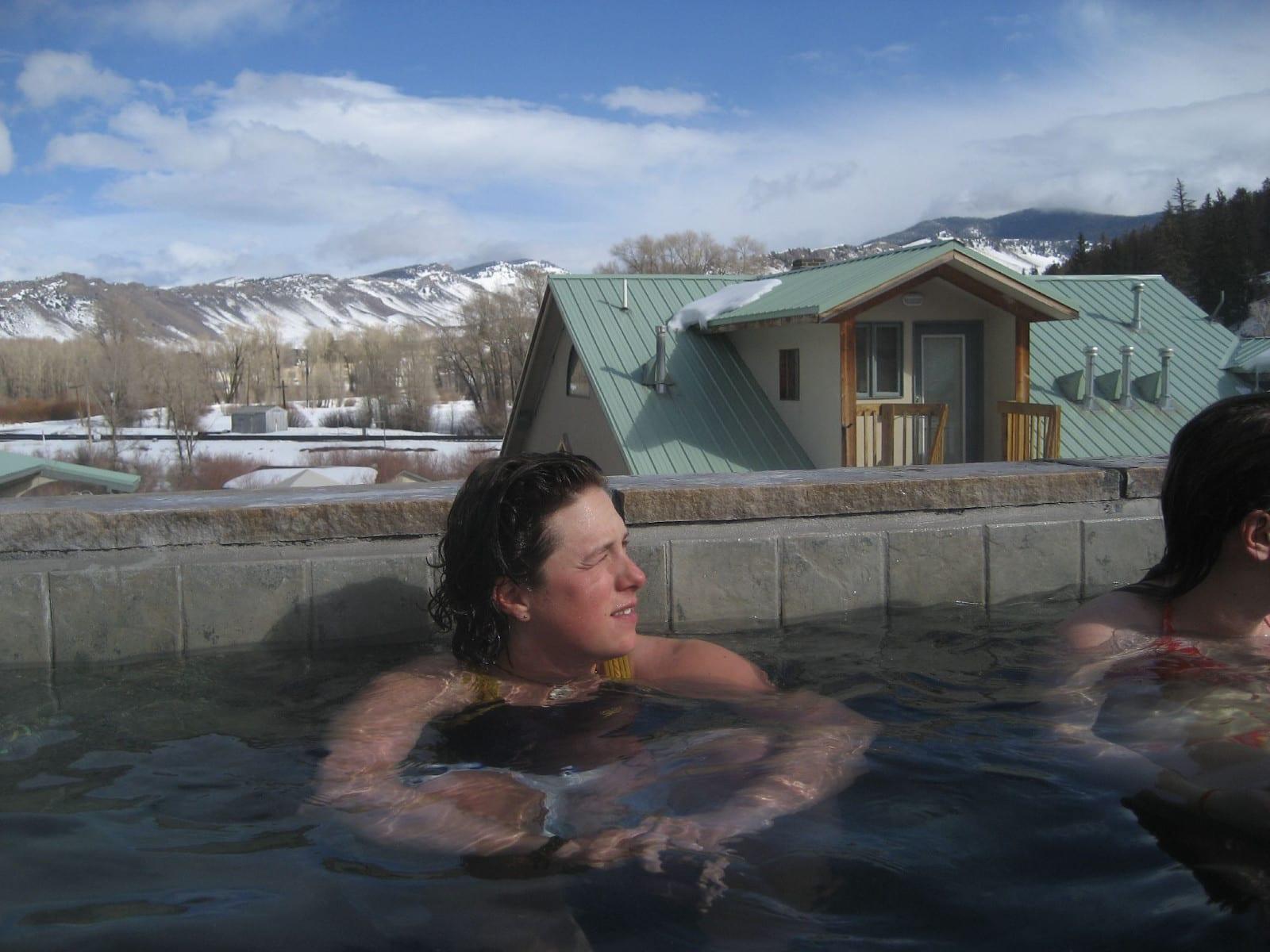Hot Sulphur Springs Resort Colorado Women Soaking